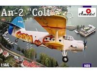 Ан-2 пассажирский АК «Кобра». 1435 Amodel 1:144