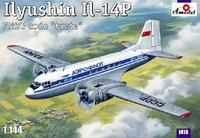 Ил-14П ближнемагистральный самолёт Аэрофлот. 1416 Amodel 1:144