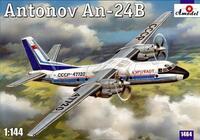 Ан-24Б пассажирский лайнер «Аэрофлот». 1464 Amodel 1:144