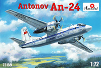 Ан-24 пассажирский лайнер «Аэрофлот». 72159 Amodel 1:72