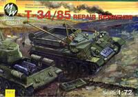 Эвакуационный тягач на базе Т-34-85. 7211 MW 1:72