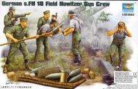 Trumpeter 00425 Сборные фигуры расчет s.F.H18 15-cm тяжелой полевой гаубицы. Масштаб 1:35