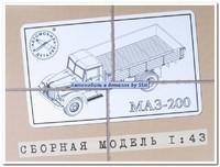 МАЗ-200 бортовой. 1008KIT SSM 1:43