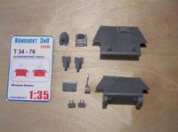 Т-34-76 установочной серии: внешние детали. 35086 Комплект ЗиП 1:35