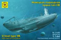 Тип-II В (U-boot Typ IIB) малая подлодка Кригсмарине. 114469  Моделист 1:144