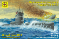 Тип-XXIII (Elektro-U-Boot Typ XXIII) малая подлодка Кригсмарине. 114470  Моделист 1:144