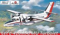 L-410 Let «Турболет» пассажирский самолет. 1467-02 Amodel 1:144