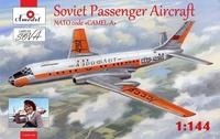 Ту-104 A2 реактивный лайнер. 1469-01 Amodel 1:144