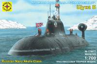 Щука-Б подводная лодка проекта 971 - 170077 Моделист 1:700