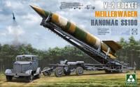 «Фау-2» ракета с транспортно-установочной тележкой и тягачем «Ганомаг» SS-100. 2030 Takom 1:35