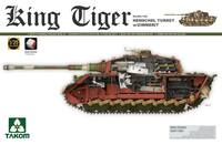 Т-VI «Королевский Тигр» тяжелый танк с башней «Хейншель» и циммеритом. 2045 Takom 1:35