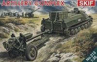 МТ-ЛБ c гаубицей Д-30 артиллерийский комплекс. SKIF 213 1:35