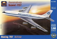 Американский среднемагистральный авиалайнер Б-707-121 Pan American