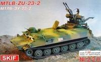 МТ-ЛБ Т-23-2 транспортер-тягач с ЗУ-23-2. 229 SKIF 1:35