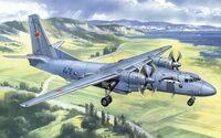 Ан-26 военно-транспортный самолет. 72118 Amodel 1:72