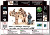 Современные американские танкисты в Афганистане. MB35131 Master Box 1:35