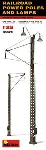 Железнодорожные электроопоры с фонарями. 35570 MiniArt 1:35