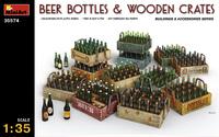 Пивные бутылки с ящиками. 35574 MiniArt 1:35