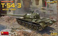 Т-54-3 обр. 1951 средний танк. 37007 MiniArt 1:35