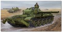 Т-62 (обр. 1975) средний танк с колейным минным тралом КМТ-6. 01550 Trumpeter 1:35