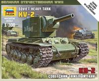 КВ-2. Сборная модель танка в масштабе 1:100  <6202 zv>