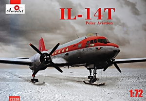 Ил-14Т транспортный самолет Полярной авиации - 72258 Amodel 1:72