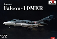 Falcon-10MER Dassault бизнес-джет. 72340 Amodel 1:72