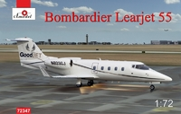 Learjet 55 Bombardier пассажирский самолет. 72347 Amodel 1:72