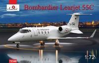 Learjet 55C Bombardier пассажирский самолет. 72348 Amodel 1:72