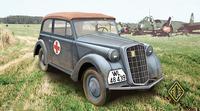 Олимпия 1937 г. штабная машина кабриолет. масштаб 1/72