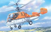 Ка-15М двухместный корабельный вертолет. 7256 Amodel 1:72