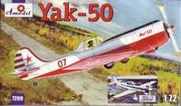 Як-50/50-2 спортивно-пилотажный самолет. 7269-01 Amodel 1:72