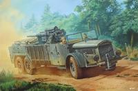 Selbstfahrlafette auf Fahrgestell Vomag 7 or 660 mit 8,8 cm Flak мобильное орудие. 727 Roden 1:72