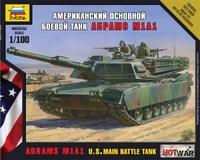 М1А1 Абрамс, Сборная модель танка в масштабе 1:100 Hot War <7405 zv>