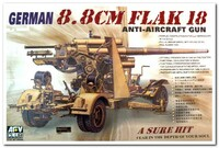 8,8 cm FlaK 18 зенитная пушка. AF35088 AFV Club 1:35