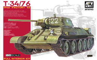 Т-34-76 средний танк завод №112 образца 1942 с полным интерьером. AF35143 AFV Club 1:35
