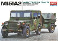 М151А2 армейский внедорожник с прицепом. 13012 Academy 1:35