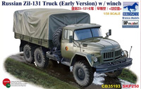 ЗиЛ-131 армейский грузовик с лебедкой. CB35193 Bronco 1:35
