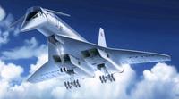 Ту-144 Cверхзвуковой пассажирский самолет. 14401 ICM 1:144