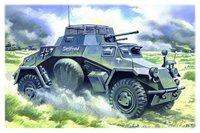 Sd.Kfz.222 легкий бронеавтомобиль. 48191 ICM 1:48