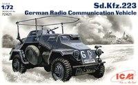 Sd.Kfz.223 бронеавтомобиль радиосвязи. 72421 ICM 1:72