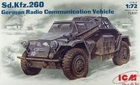 Sd.Kfz.260 бронеавтомобиль радиосвязи. 72431 ICM 1:72