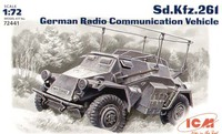 Sd.Kfz.261 бронеавтомобиль радиосвязи. 72441 ICM 1:72