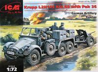 Krupp L2H143 Kfz.69 артиллерийский тягач с пушкой РаK 36. 72461 ICM 1:72