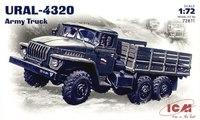 Урал 4320 армейский грузовой автомобиль. 72611 ICM 1:72
