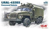 Урал 4320 подвижный командный пункт. 72612 ICM 1:72
