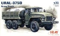 Урал 375Д армейский грузовой автомобиль. 72711 ICM 1:72