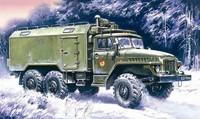 Урал 375A подвижный командный пункт. 72712 ICM 1:72