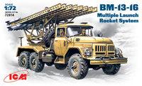 БМ-13-16 РСЗО на базе Зил-131. 72814 ICM 1:72