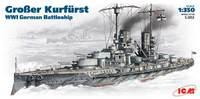 SMS Grosser Kurfurst линейный корабль Кайзеровского флота. S.002 ICM 1:350